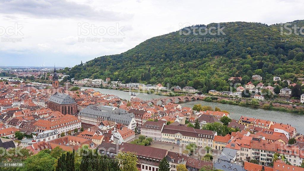 Cidade de Heidelberg foto de stock royalty-free
