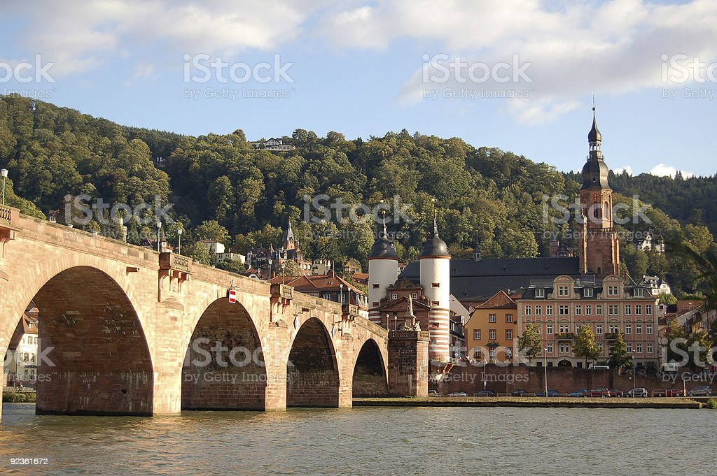 Heidelberg cityscape stock photo
