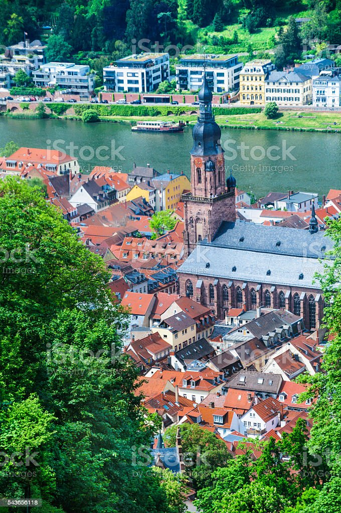 Heidelberg From Above stock photo