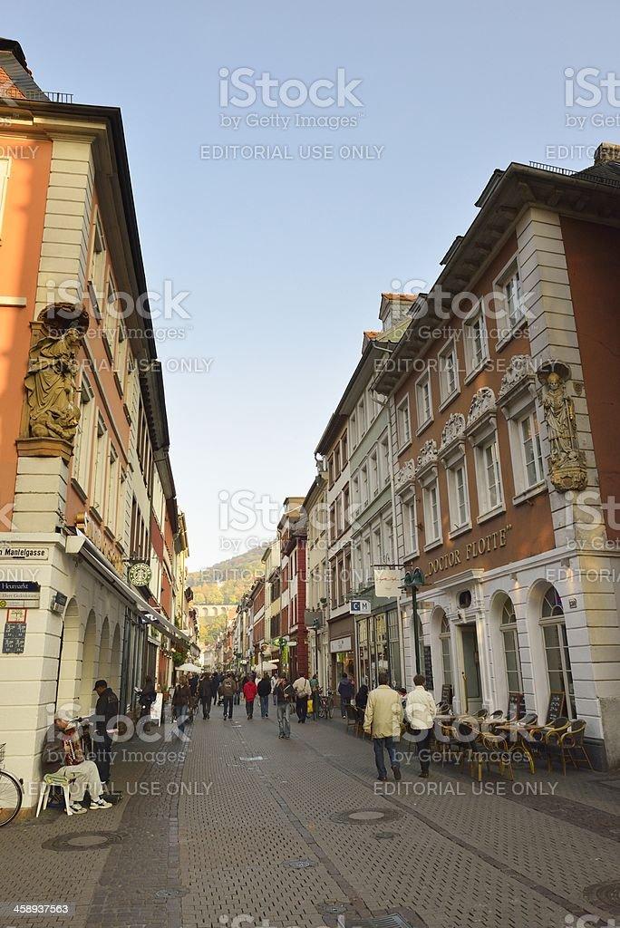 Heidelberg Hauptstrasse royalty-free stock photo