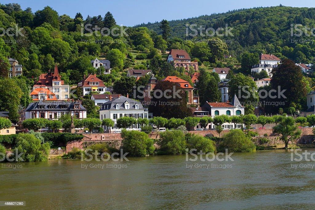 Heidelberg houses stock photo