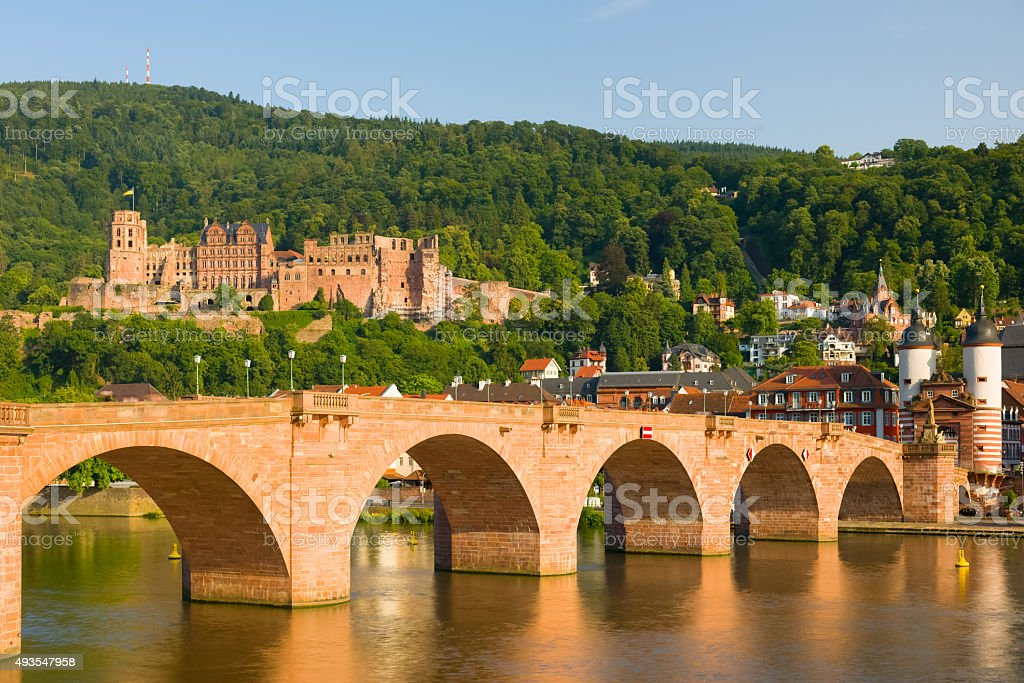 Heidelberg in a summer evening stock photo