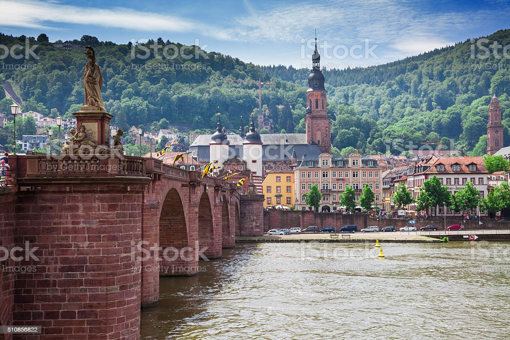 Heidelberg in Germany on the Neckar stock photo