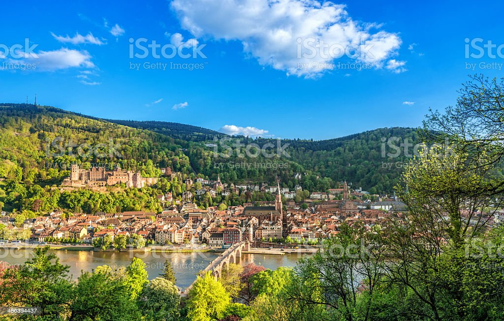 Heidelberg in spring stock photo