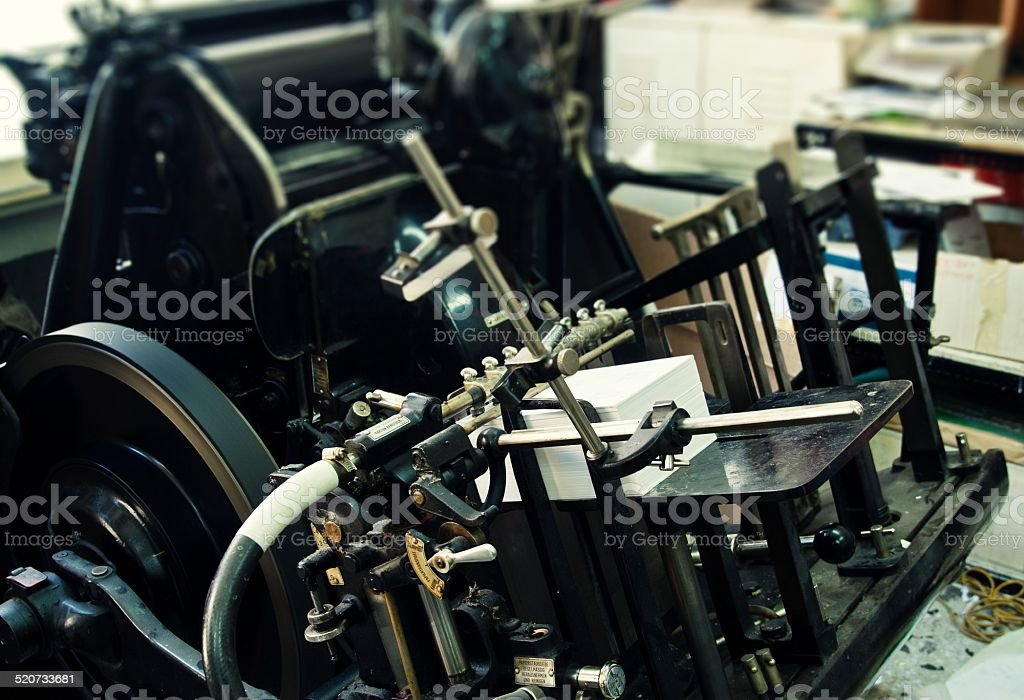 Heidelberg printing press stock photo