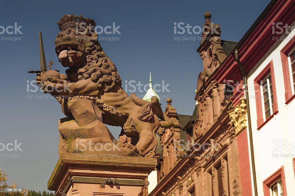 Heidelberg,University Square, Lion King Statue stock photo