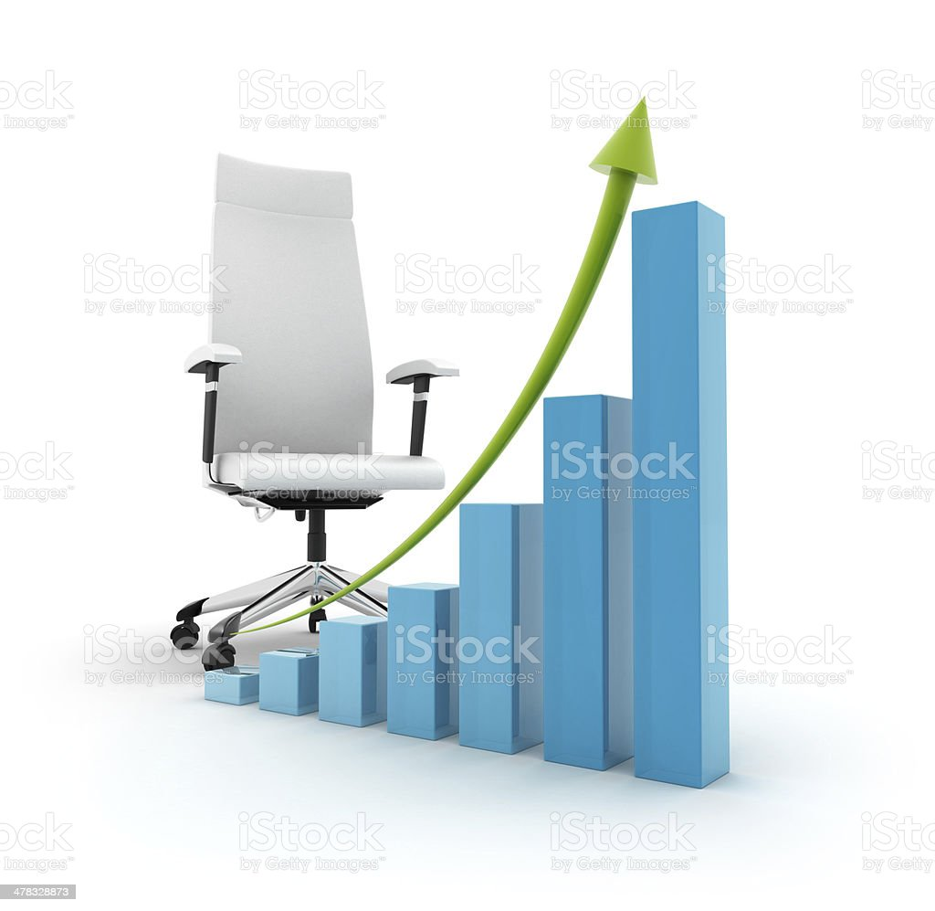 Height chart with chair royalty-free stock photo