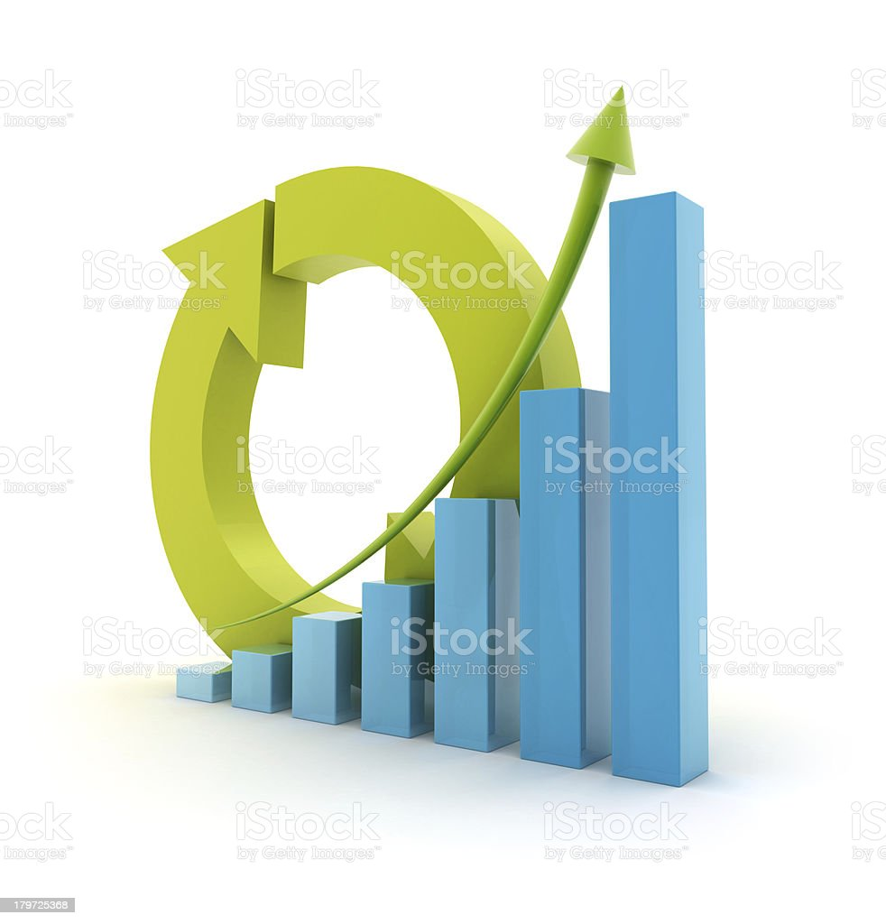 Height chart with cycle sign royalty-free stock photo