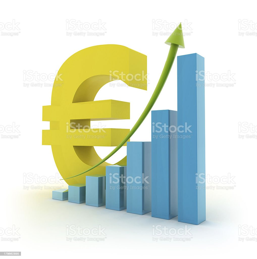 Height chart with Euro sign royalty-free stock photo