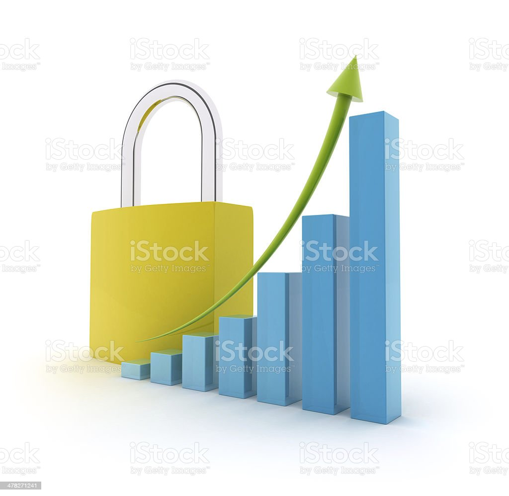 Height chart with padlock royalty-free stock photo