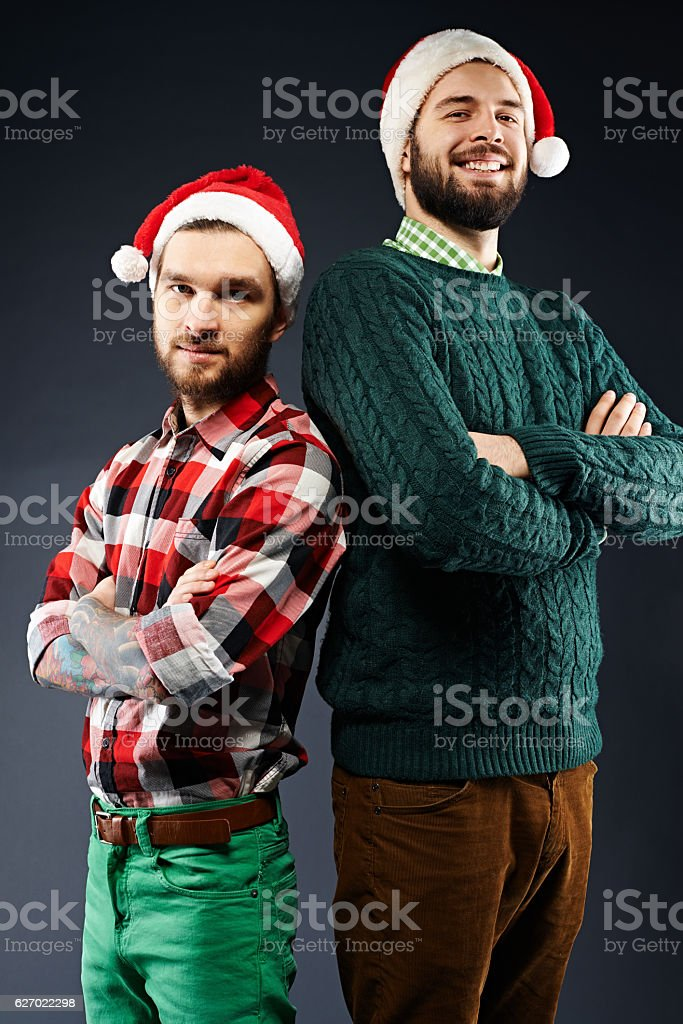 Height doesn'€™t matter for Christmas! stock photo