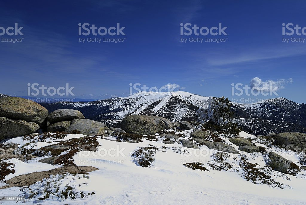 Height of Guarramillas from Seven Peaks. Madrid. Spain stock photo