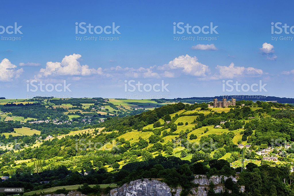 Heights of Abraham, Riber Castle. stock photo