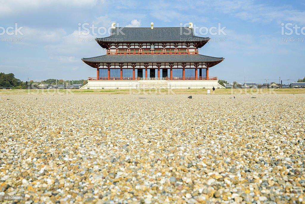 Heijo Palace Nara Japan stock photo