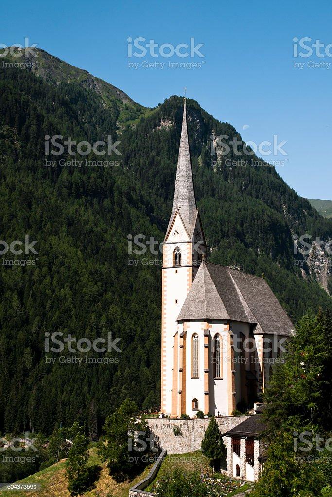 Heiligenblut church - Austria stock photo