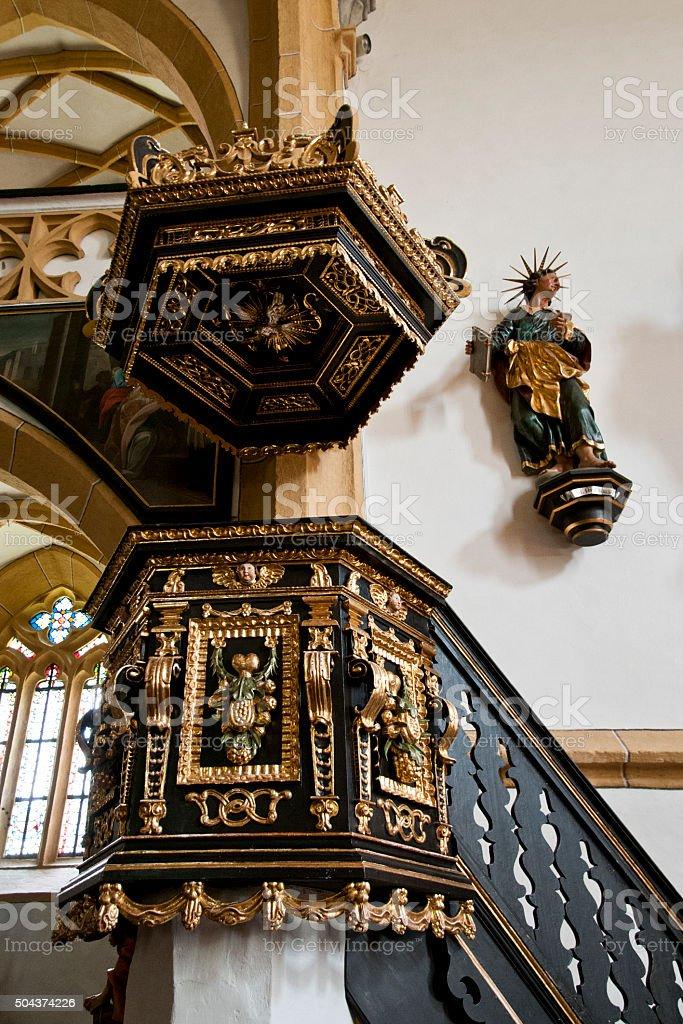 Heiligenblut church interior - Austria stock photo