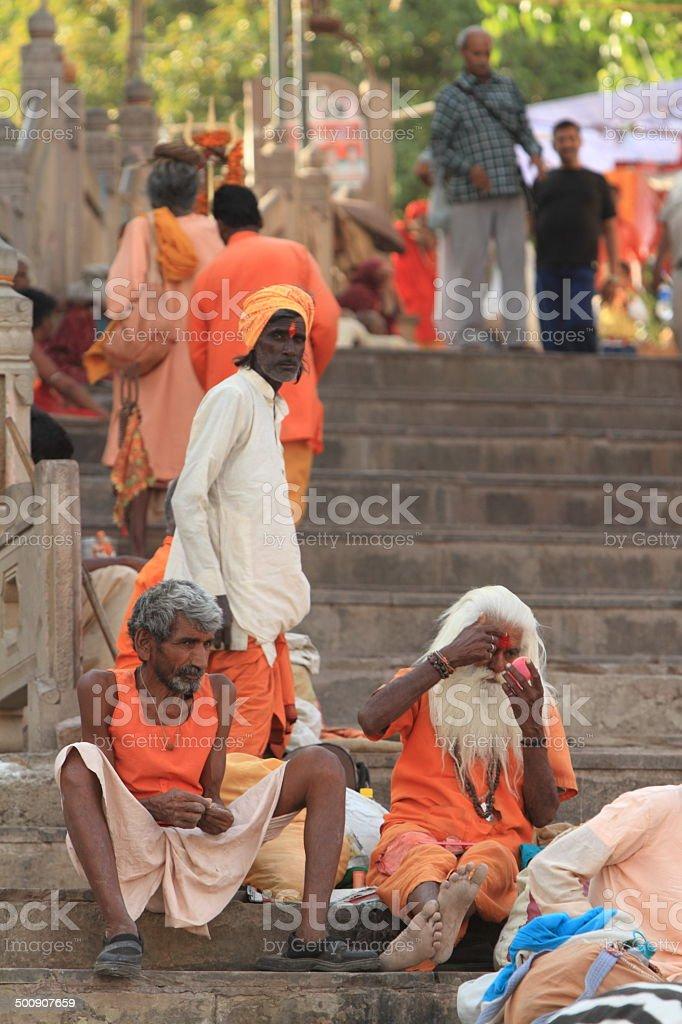 Heiliger Sadhu in Indien stock photo