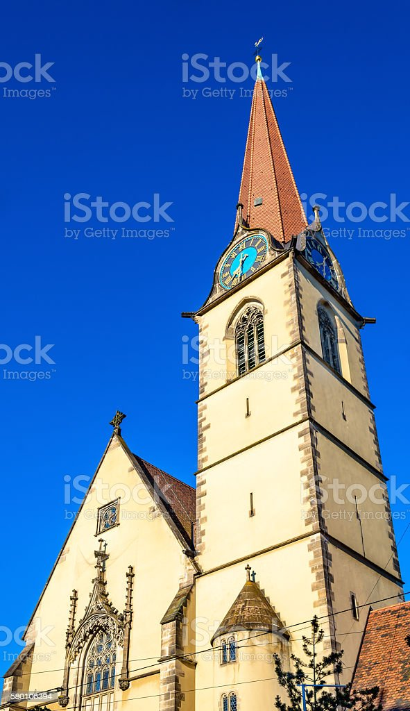 Heiliggeistkirche, a Roman Catholic church in Basel stock photo