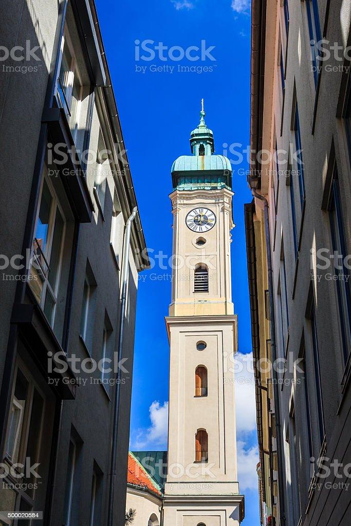 Heiliggeistkirche, Munich, Bavaria, Germany stock photo