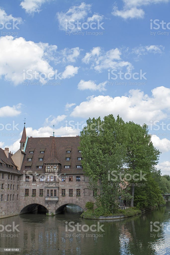 Heilig-Geist-Spital, Nuremberg stock photo