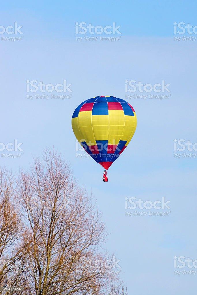Hei?luftballon hebt ab stock photo