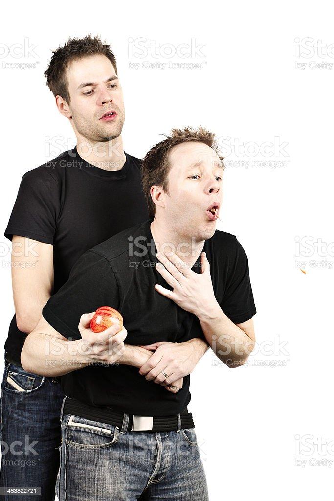 Heimlich Maneuver stock photo