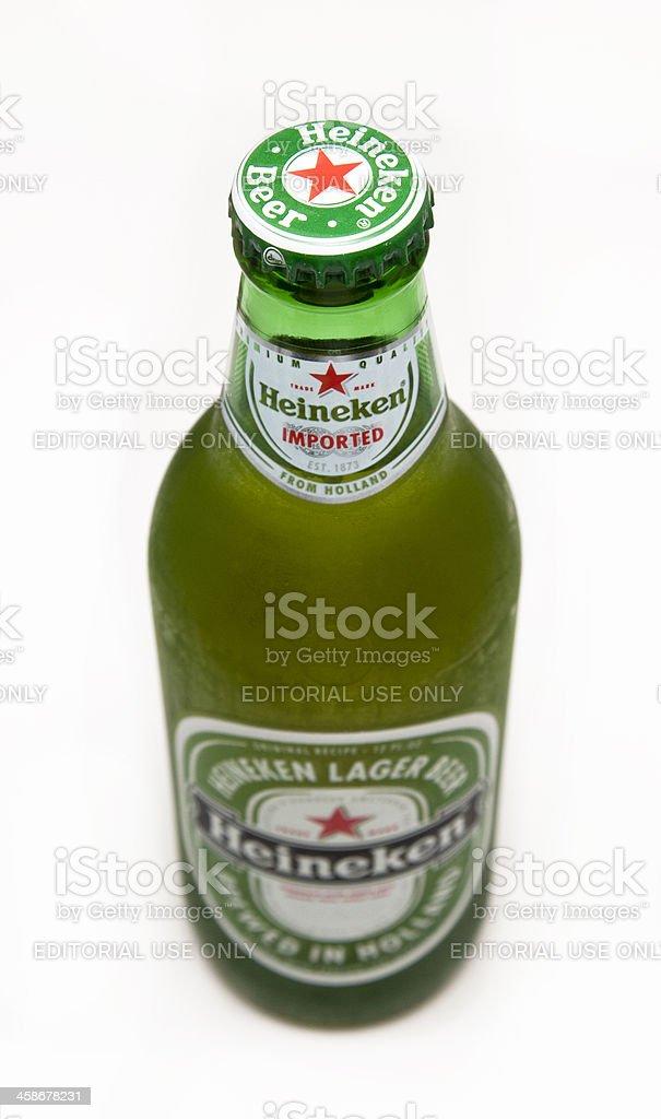 Heineken Beer Bottle royalty-free stock photo