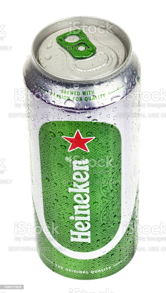 Heineken Beer Can - Chilled royalty-free stock photo