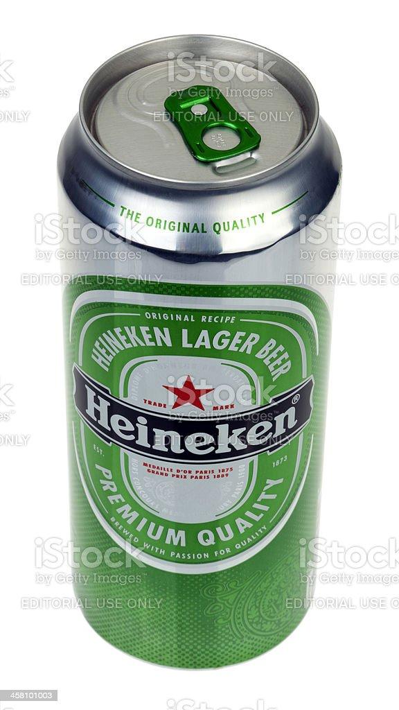 Heineken Beer Can royalty-free stock photo