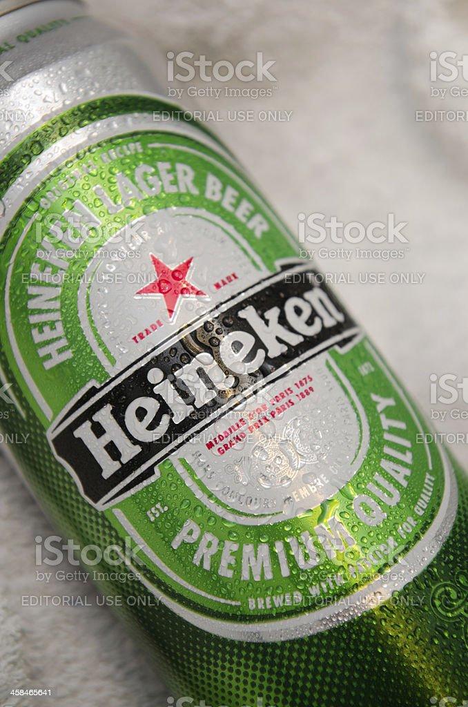 Heineken beer Can stock photo