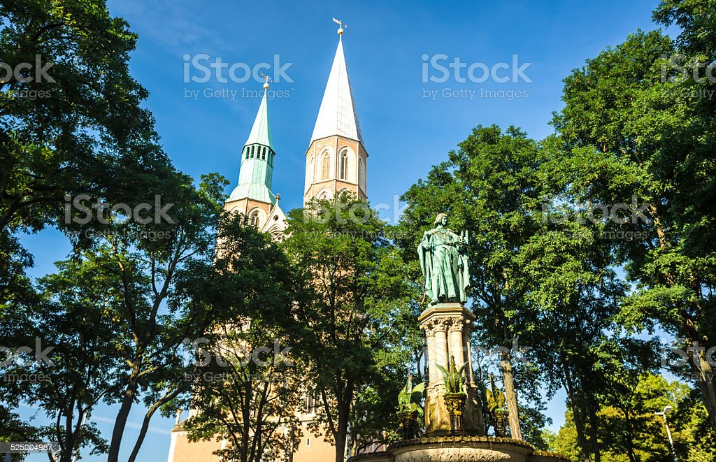 Heinrichsbrunnen in Braunschweig stock photo