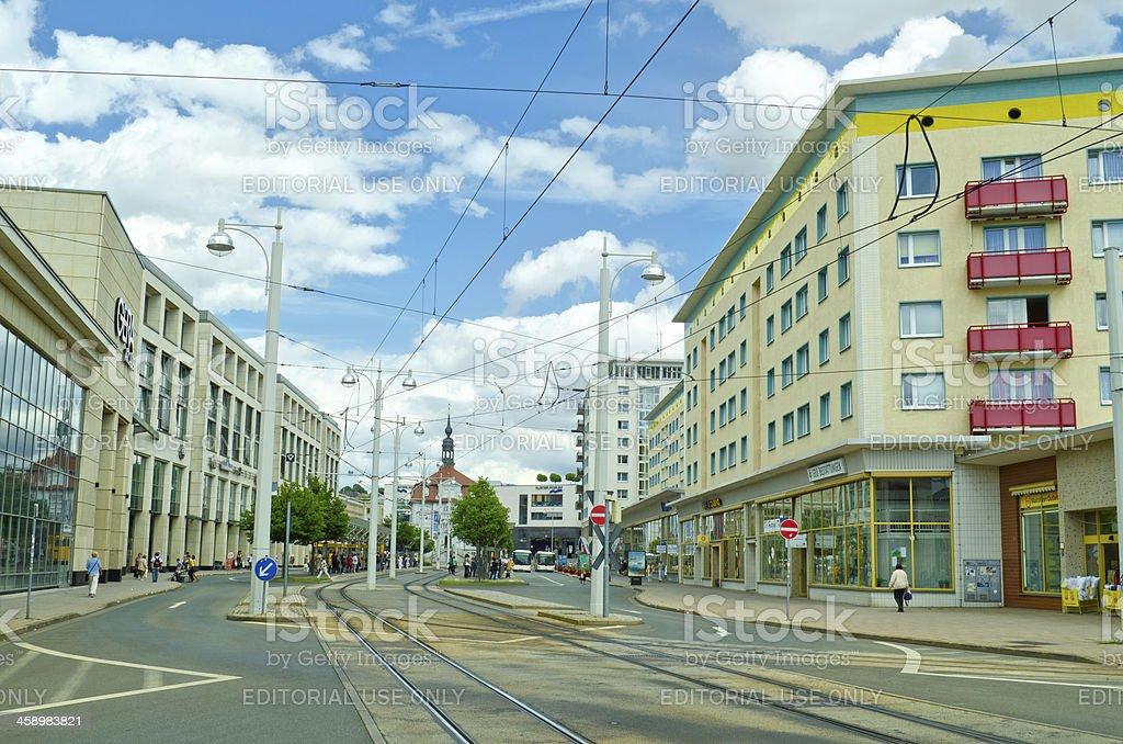 Heinrichstrasse in Gera, Germany royalty-free stock photo