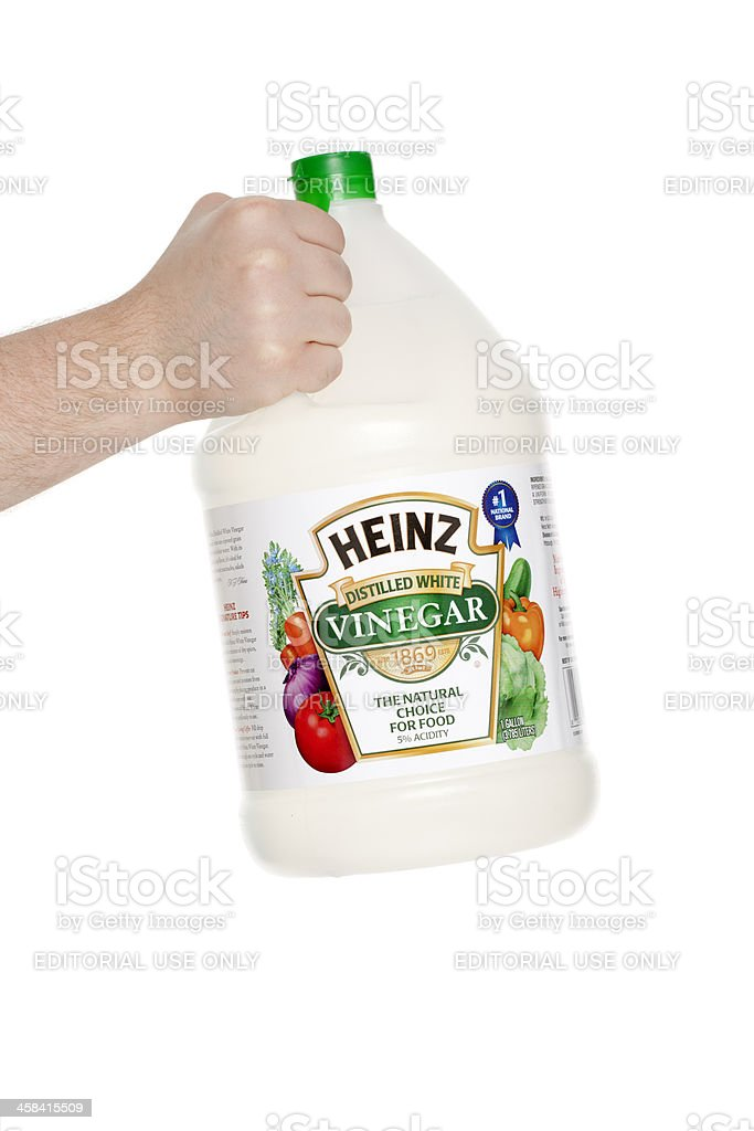 Heinz Distilled White Vinegar stock photo