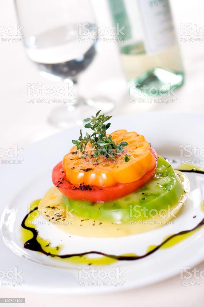 Heirloom Stack Salad stock photo