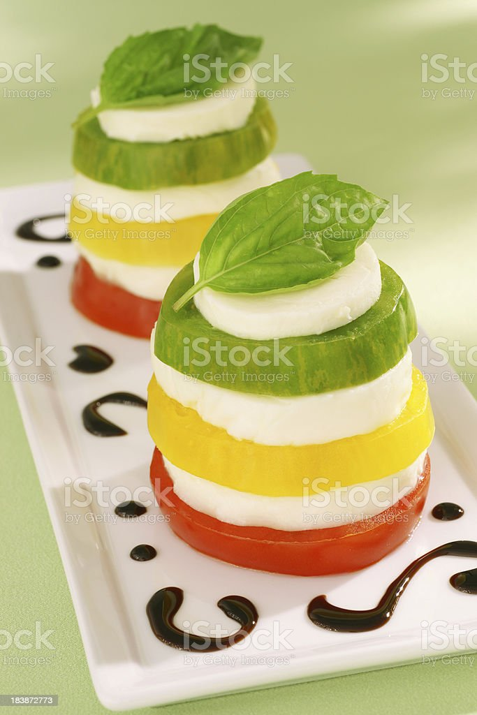 Heirloom Tomato Caprese Salad royalty-free stock photo