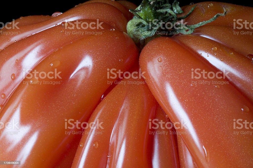 Heirloom Tomato Closeup royalty-free stock photo
