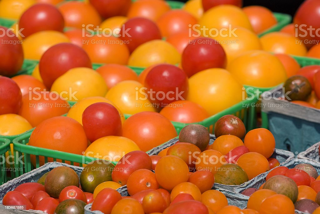 Heirloom Tomato Display royalty-free stock photo