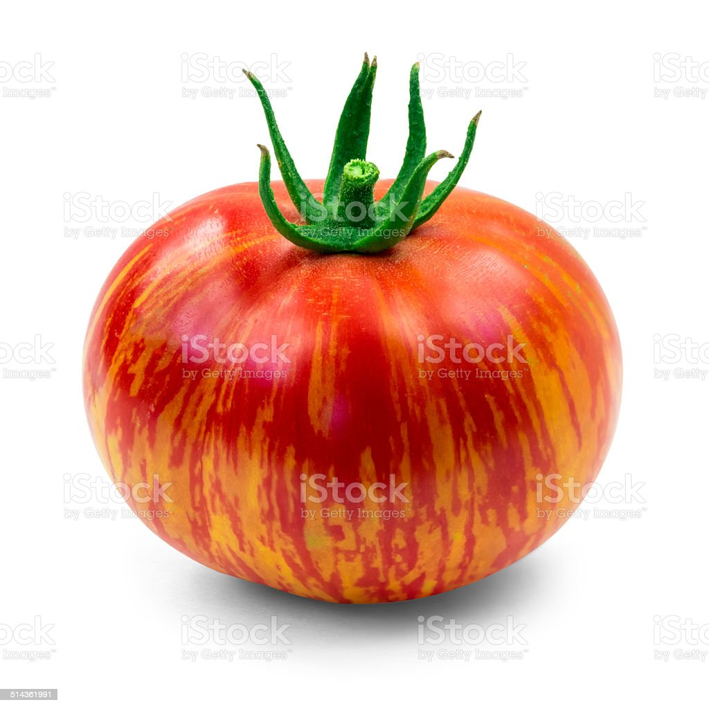Heirloom tomato stock photo