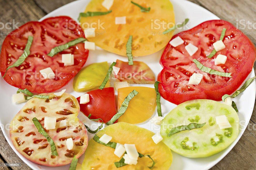 Heirloom Tomato Salad royalty-free stock photo