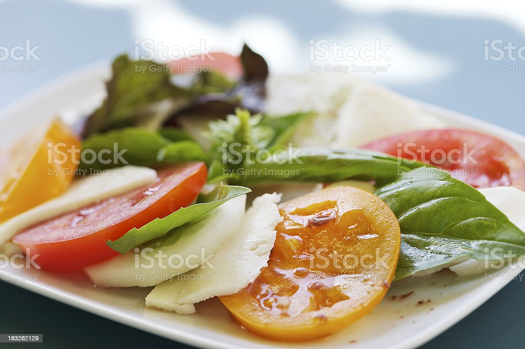 Heirloom Tomato Salad royalty-free stock photo