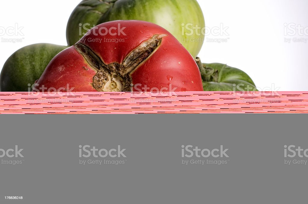 Heirloom Tomatoes, Green and Red royalty-free stock photo
