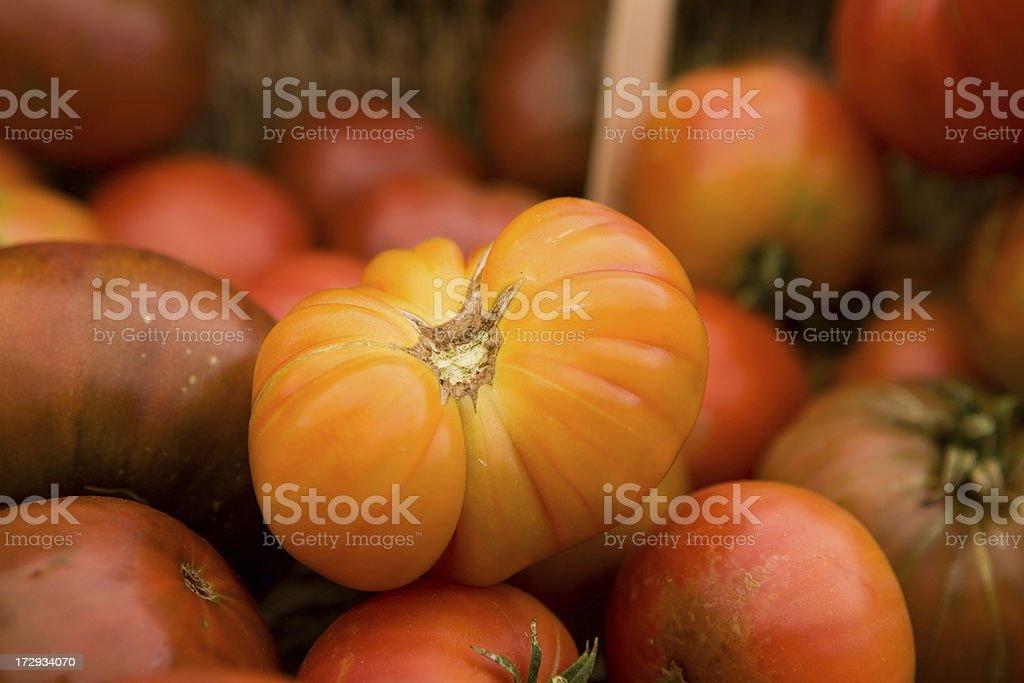 Heirloom tomatoes royalty-free stock photo