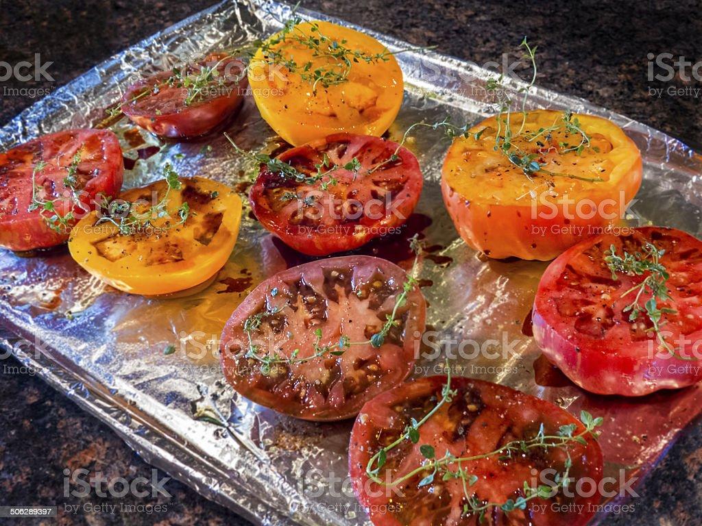 Heirloom tomatoes stock photo