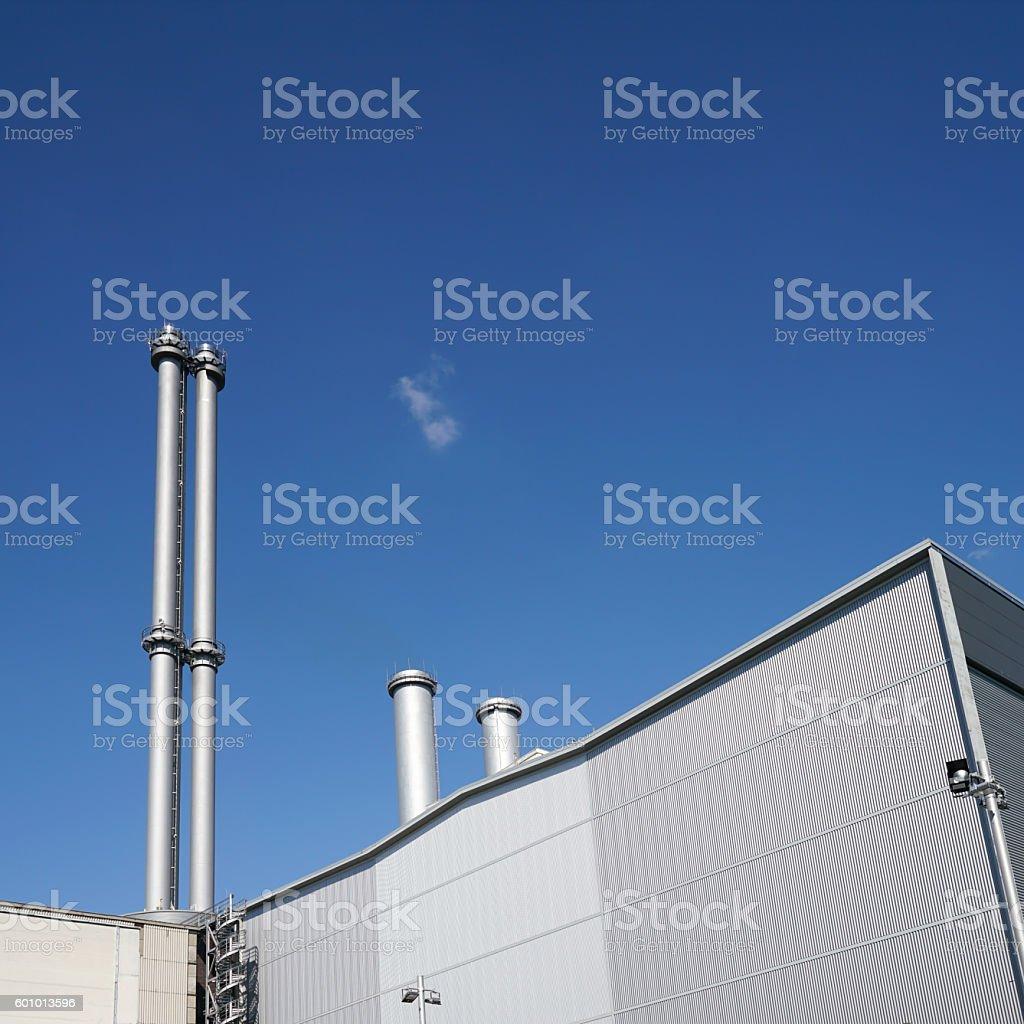 Heizkraftwerk stock photo