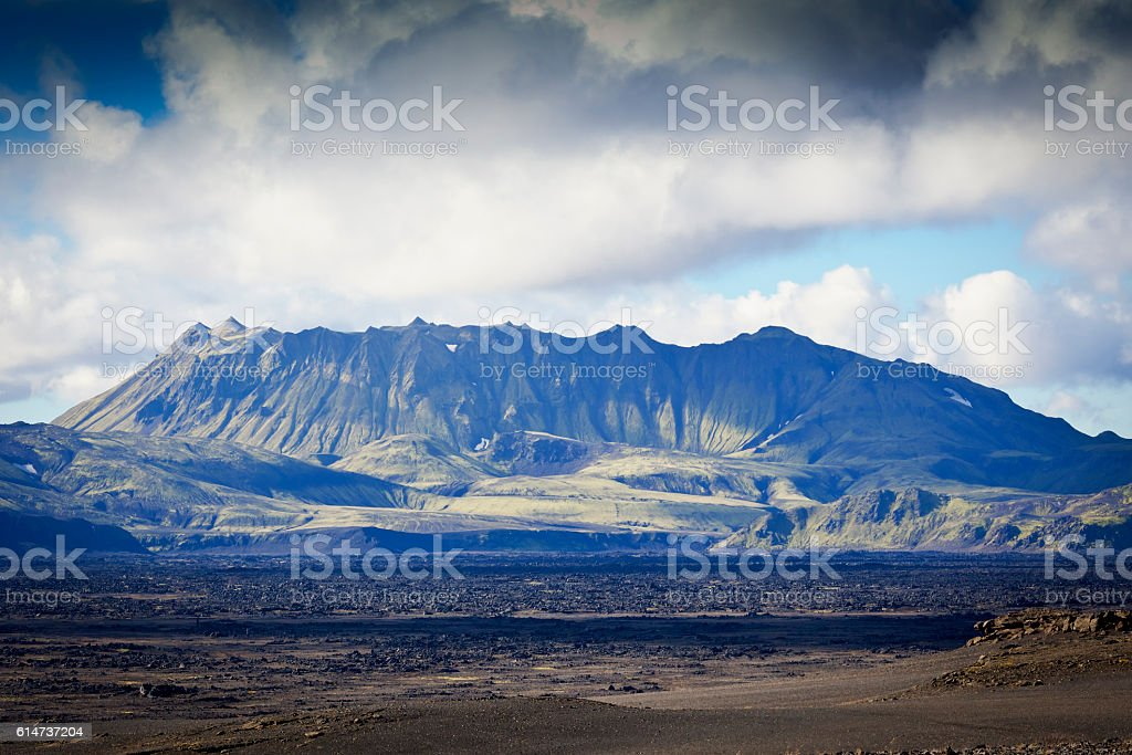 Hekla volcano stock photo