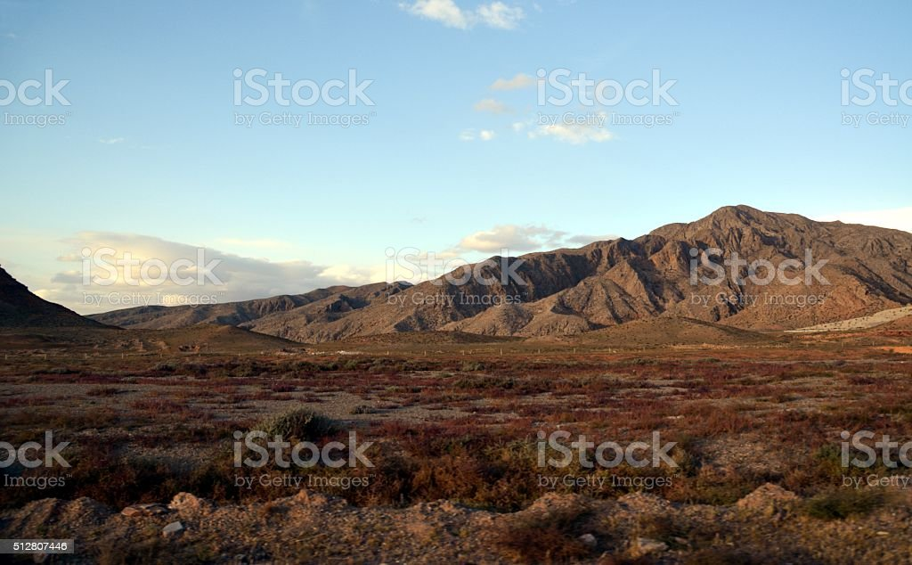 Helan Shan mountains, Inner Mongolia stock photo
