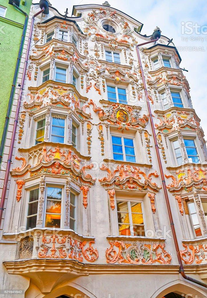 Helblinghaus called as House of Helbling in Innsbruck of Austria stock photo