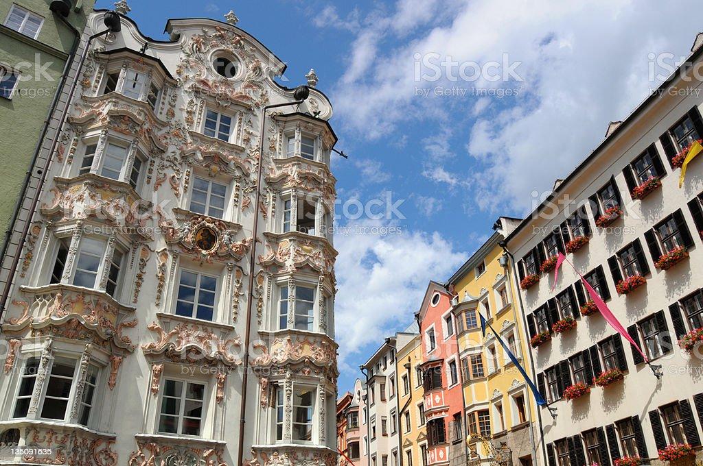 Helblinghaus in Innsbruck (Austria) stock photo