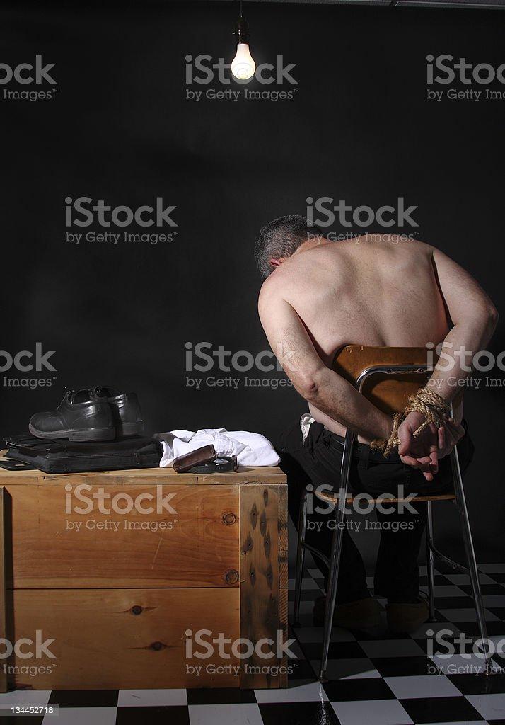 Held hostage stock photo