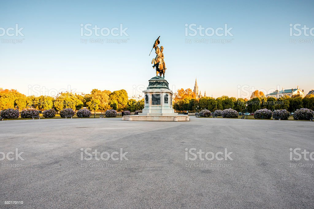 Helden square in Vienna stock photo